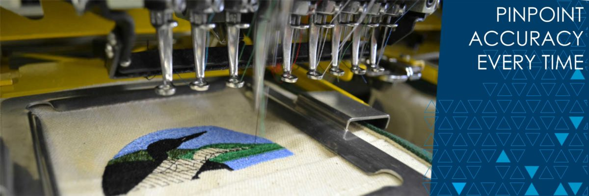 Custom embroidery with pinpoint accuracy